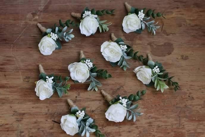 زفاف - Wedding boutonniere for men Groom boutonniere prom Flower boutonniere eucalyptus winter boutonniere greenery boutonniere buttonhole flower