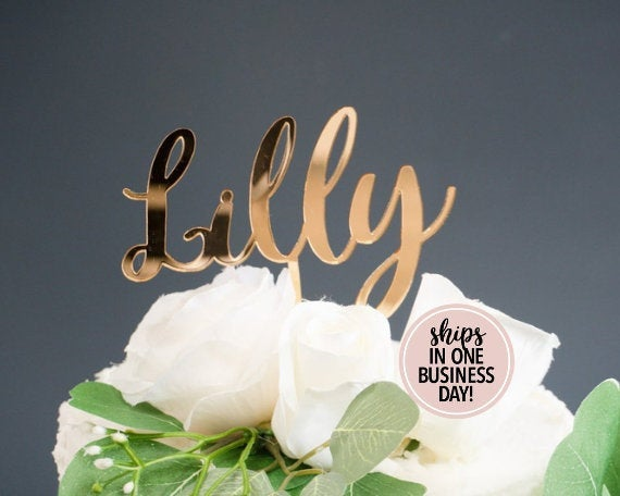 Свадьба - Personalized First Name Cake Topper