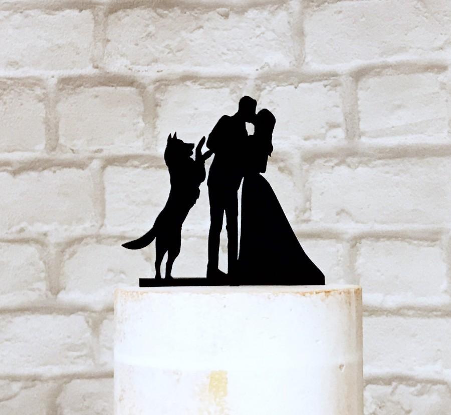 Mariage - German Shepherd Wedding Cake Topper