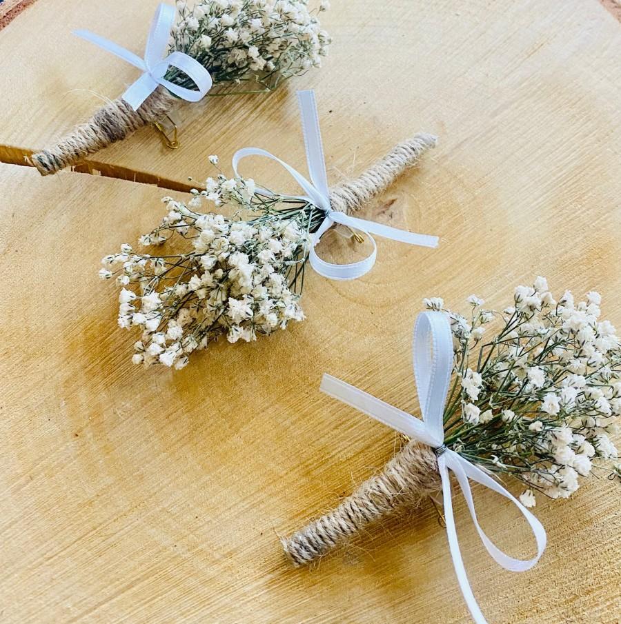 Wedding - Dried Gyp Buttonhole