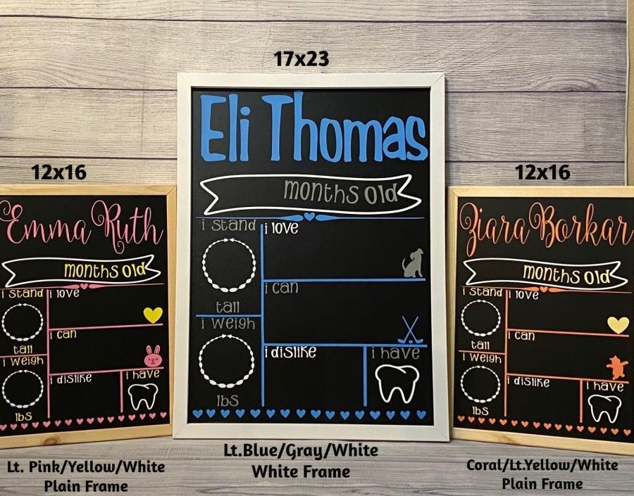 زفاف - Monthly Baby Chalkboard - Milestone Chalkboard - Baby Shower Gift - Baby Girl - Baby Boy - Baby Chalkboard
