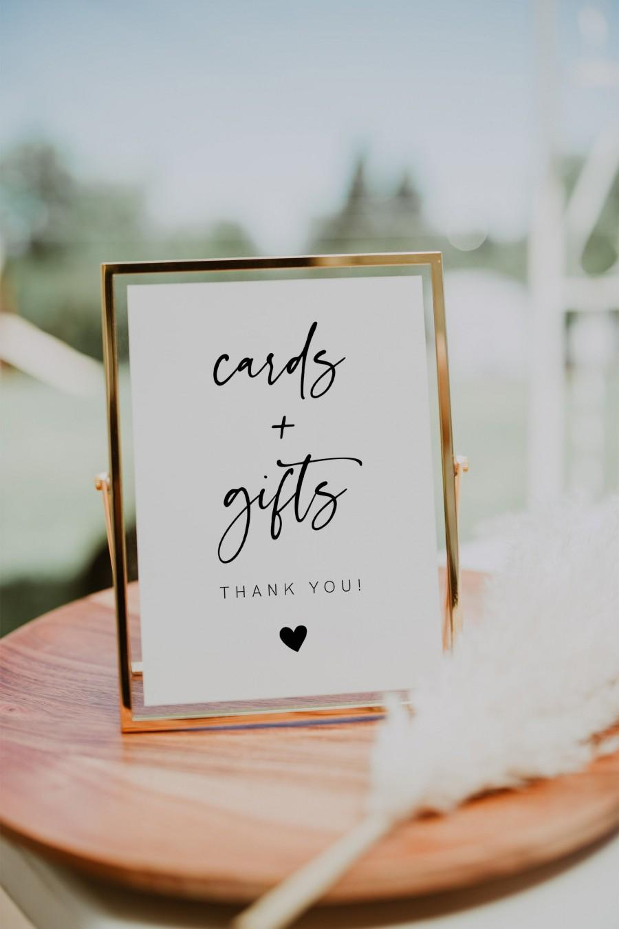 Wedding - Cards and Gifts Sign Printable, Modern Minimalist Wedding Sign, Baby Shower Sign, Bridal Shower Gift Sign, Retirement Party Instant, 003