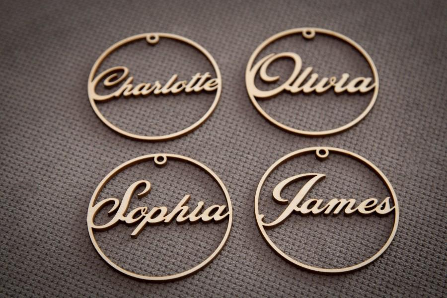 Wedding - Wedding place card, laser cut names. Wedding place names, table name cards.