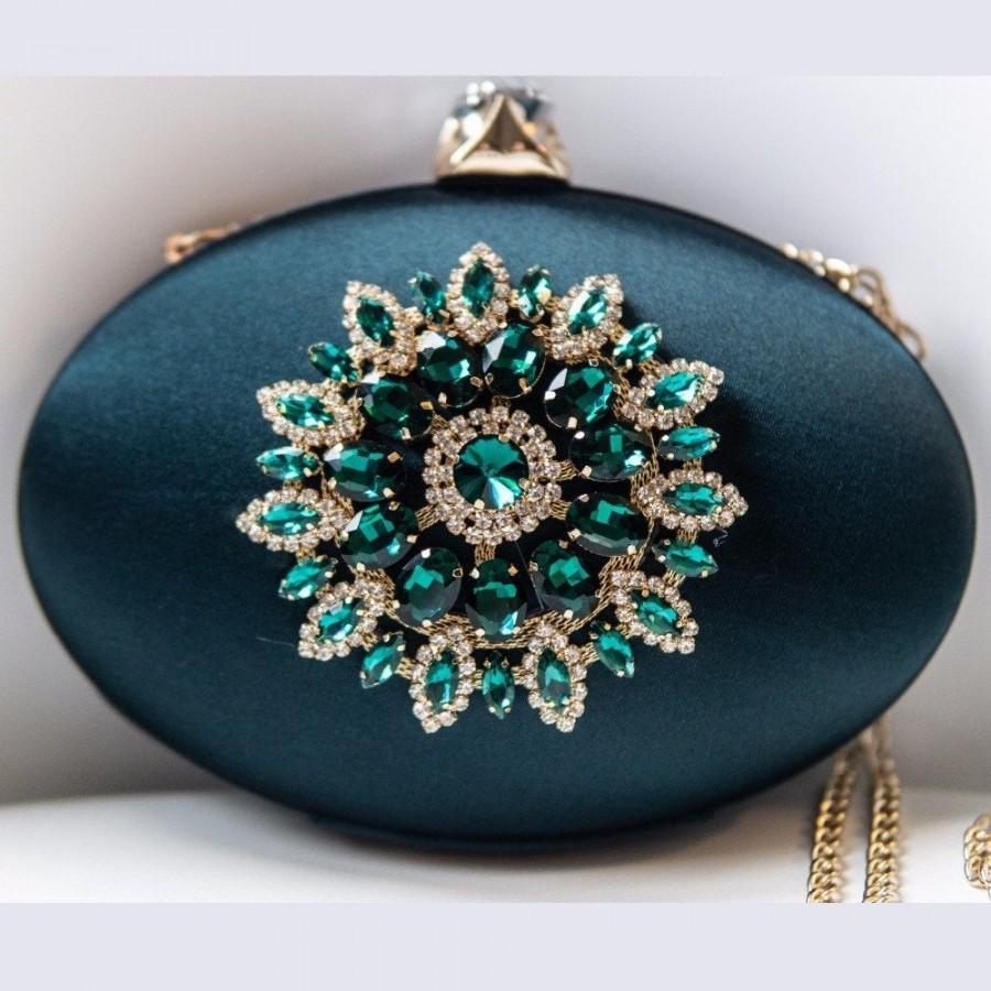 Wedding - satin bag ivory satin bag with handmade satin flowers pearls and glass crystals, wedding bag satin, evening satin bag