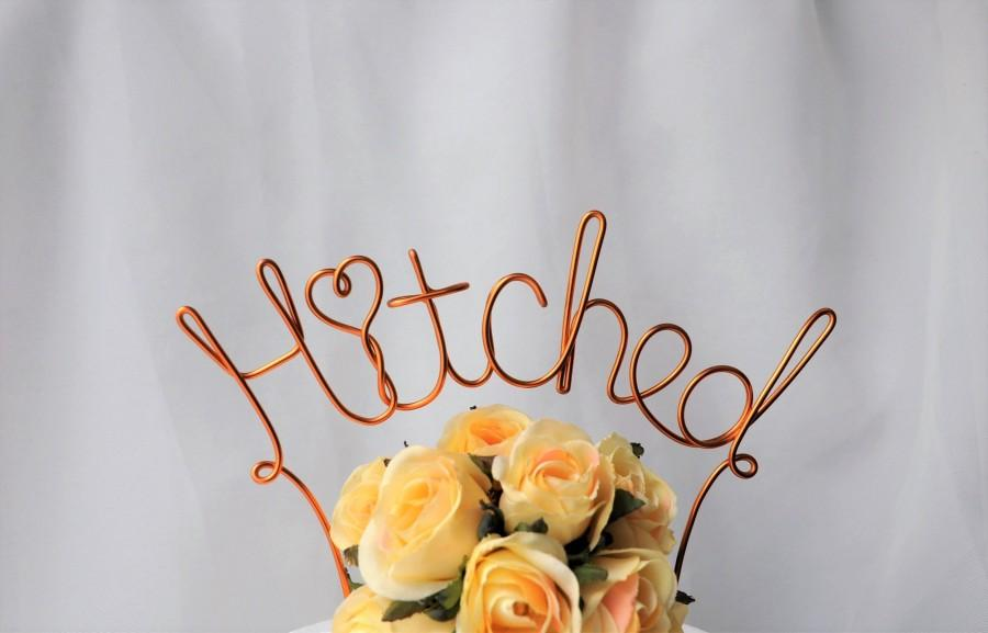 Wedding - Hitched Rustic Wire Wedding Cake Topper