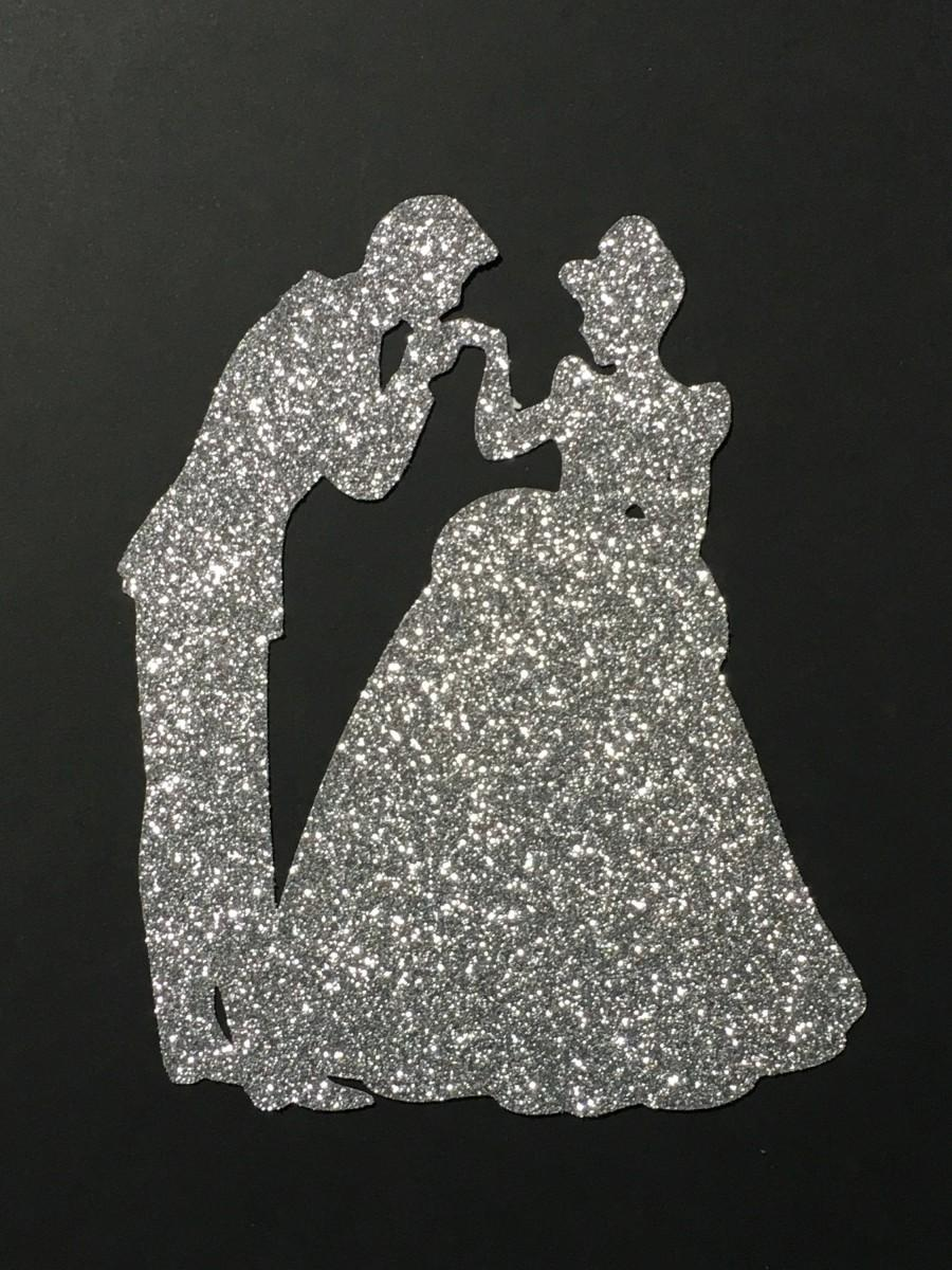 Wedding - Cinderella's  kiss cake toppers