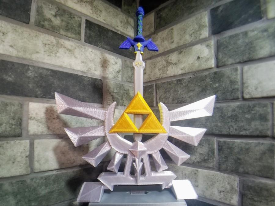 Wedding - 3D Printed - Zelda Hyrule Crest with Master Sword (Buy any 2 items get 15% off total!)