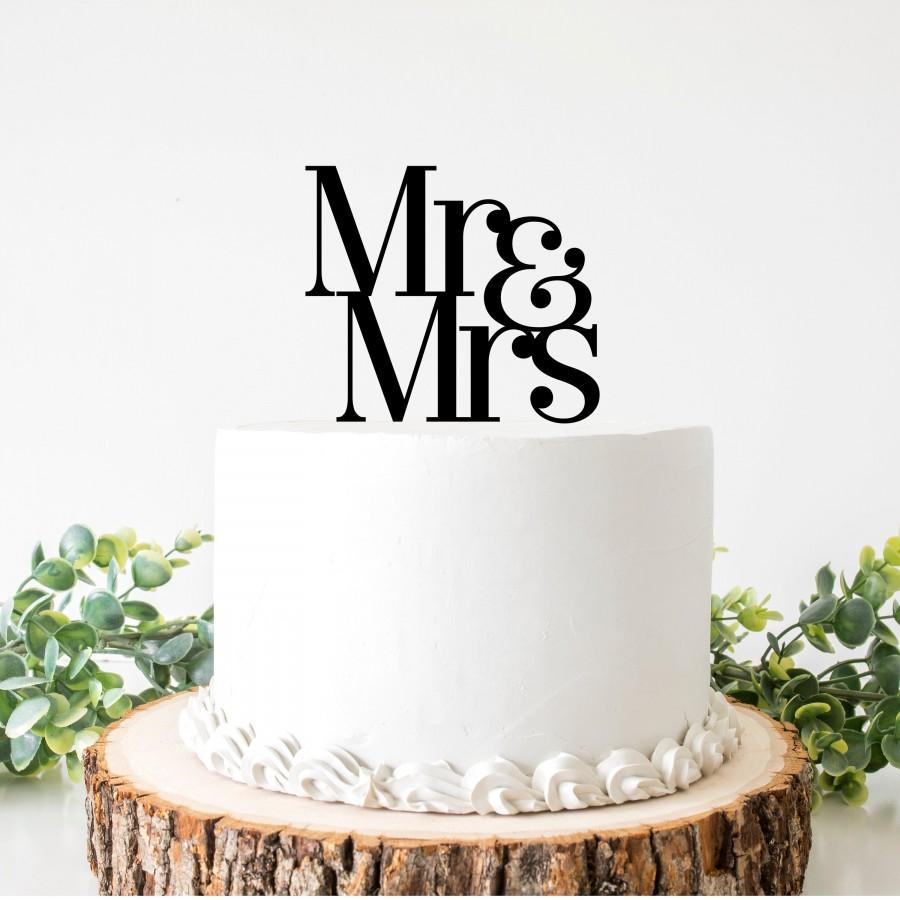 Wedding - Mr & Mrs cake topper wedding script UK script swirly swirl engaged engagement glitter gold silver