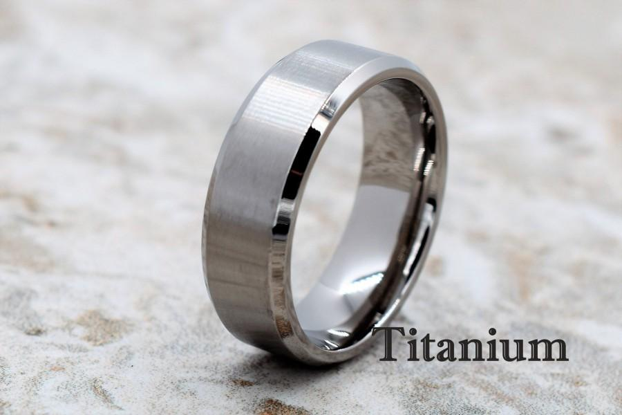 Wedding - Titanium Ring, Titanium Band, Titanium Wedding Band, Men's Wedding Ring, Men's Ring, Titanium Wedding Ring, Personalized Ring, Titanium