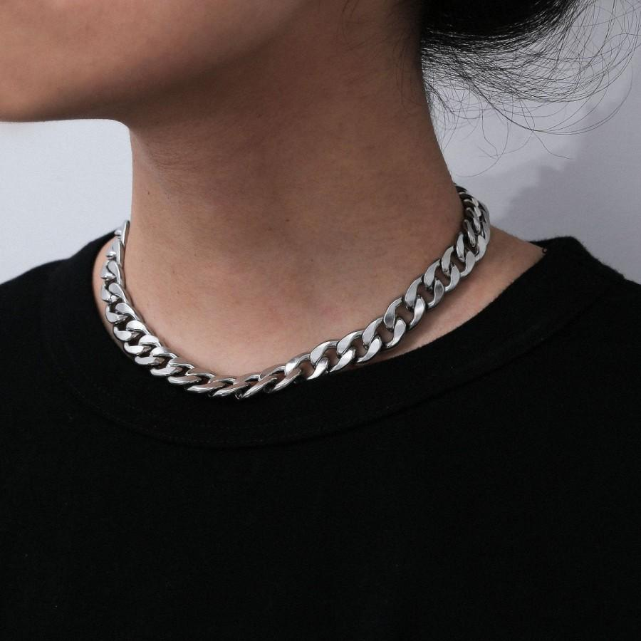 Wedding - Stainless Steel Punk Style Chunky Chain Choker Necklace