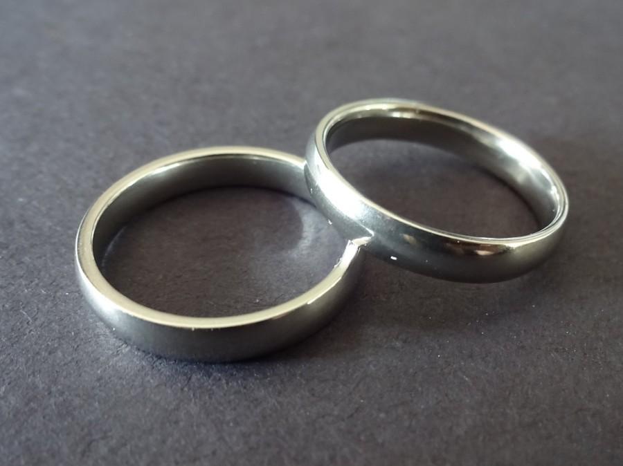 زفاف - Simple Stainless Steel Ring, Basic Band, Size 7-11, Handcrafted Steel Ring, Men's Ring, Unisex Jewelry, Wedding Band, Engagement Ring
