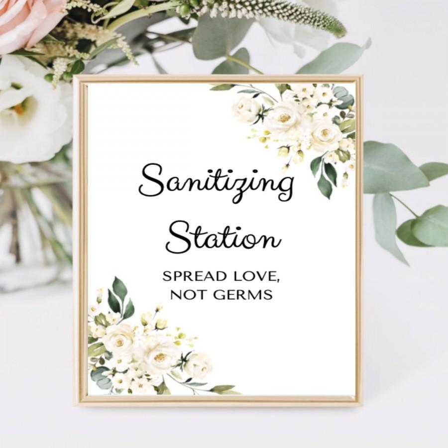 Hochzeit - Sanitization Station Sign - INSTANT DOWNLOAD