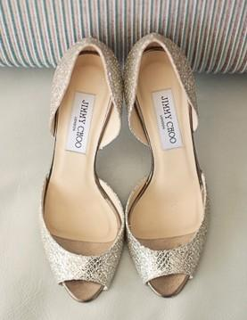 fe4fed113c8 Silver Sparkly Wedding Shoes ♥ Jimmy Choo Bridal Shoes Collection ...