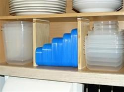 Organized A To Z Expandable Vertical Cabinet Divider Allows You To - How to organize your kitchen cabinets