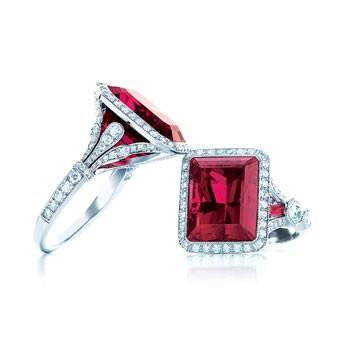 Mariage - Luxe Diamant et Ruby Ring