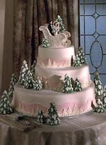 wedding photo - Christmas Wedding Cakes ♥ Beautiful Hochzeitstorte für Winter Hochzeiten