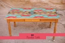 wedding photo - DIY: Painted Table