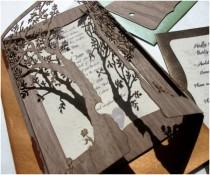wedding photo - Clever 'Love Tree' Wedding Invitation by Laser Creative