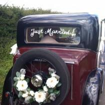 wedding photo - The Getaway Car!