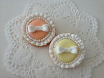 wedding photo - ribbon cookies