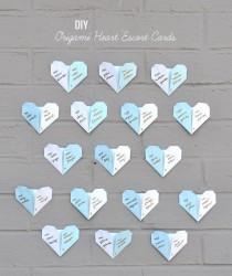 wedding photo - DIY: Origami Heart Escort Cards