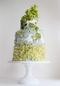 wedding photo - Hand-Painted Wedding Cakes
