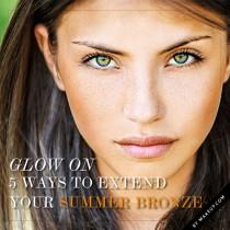wedding photo - Glow On: 5 Ways to Extend Your Summer Bronze