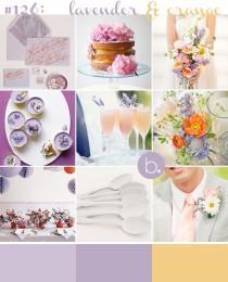 wedding photo - #126: lavender & orange