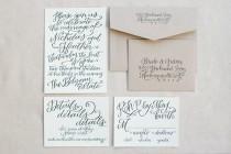 wedding photo - Calligraphy Inspiration: Hardink Calligraphy