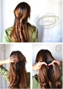 wedding photo - Hair Style FISHTAIL and Tutorial