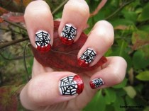 wedding photo - Bloody Spider Web Nail Art Tutorial
