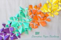 wedding photo - DIY: Geometric Paper Backdrop