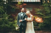 wedding photo - Playful Montana Cabin Wedding: Jamie + Jake