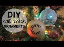 wedding photo - DIY Holiday Ornaments using NAIL POLISH!