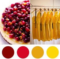 wedding photo - Christmas Colour Palette – Cranberry & Saffron