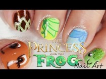 wedding photo - Princess and the Frog Nail Art