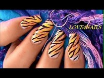 wedding photo - How To Tiger Nails ~ Tutorial