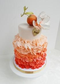 wedding photo - Coral Wedding Cake