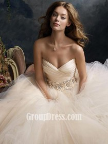wedding photo - Blush Strapless Sweetheart Bridal Gown