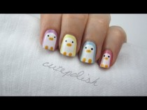 wedding photo - Nail Art: Pastel Penguins!