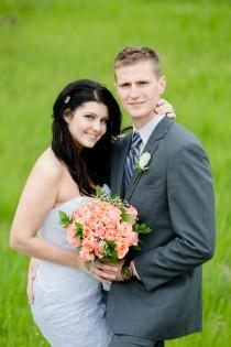 wedding photo - A Rustic Coral Wedding In Barrhead, Alberta