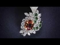 wedding photo - Royal Gardens Feather Diamond Brooch
