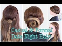 wedding photo - 1 Casual & 1 Formal Date Night Hairstyle!