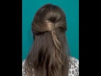 wedding photo - Aria Inspired Quick Half Up Half Down Style - Back To School Down-Dos #3