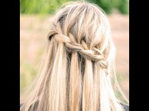 wedding photo - How To Do A Waterfall Braid + How To Finish It