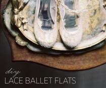wedding photo - DIY Lace Ballet Flats