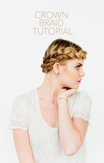 wedding photo - Crown Braid Tutorial
