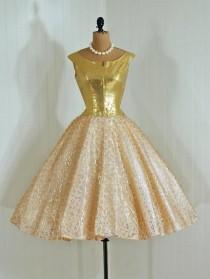 wedding photo - 1950's Inspired Pink And Gold Weddings