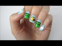 wedding photo - FLAPPY BIRD NAILS!!!