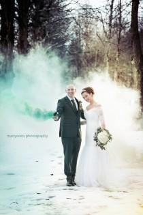 wedding photo - Smokey Wedding